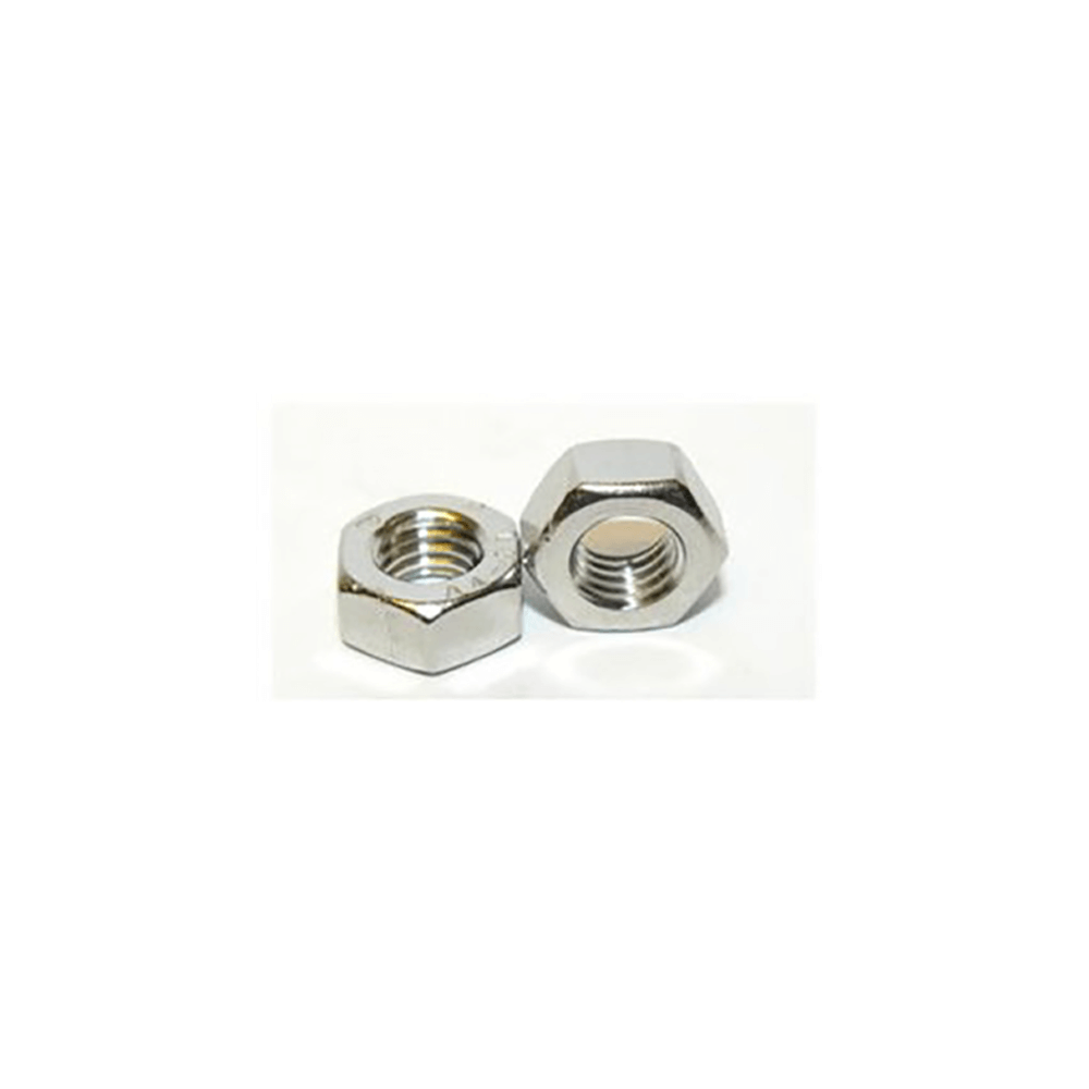 M8 x 1.25 Full Nut in silver